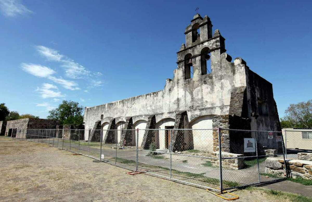 View of Mission San Juan Capistrano which is under renovation Sunday Sep. 5, 2011.