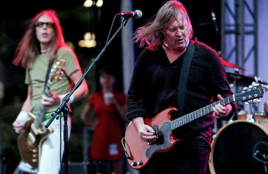 "Eddie ""King"" Roeser. of the band Urge Overkill performs at the Fischer Green Stage. Photo: JOE DYER / SEATTLEPI.COM"