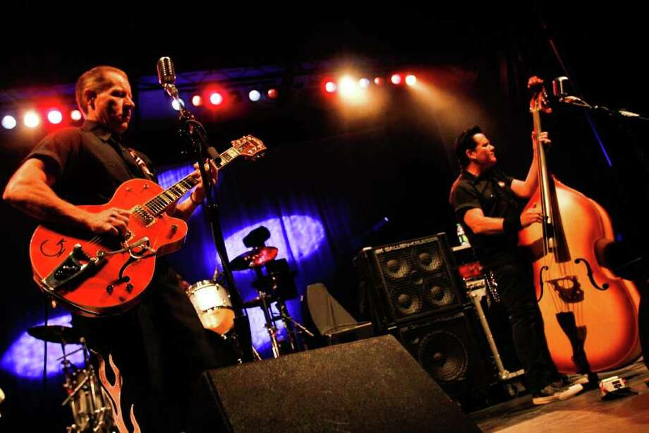 The band Reverend Horton Heat performs at the Fischer Green Stage. Photo: JOE DYER / SEATTLEPI.COM