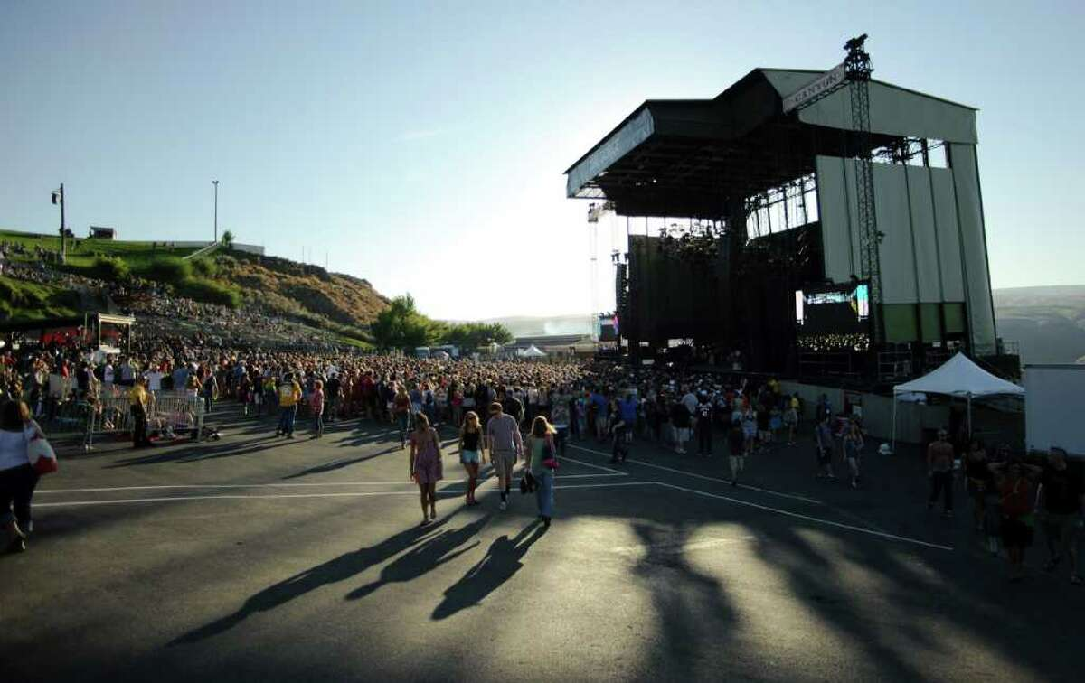 Fans gather at the main stage during the Dave Matthews Band Caravan at the Gorge Amphitheater on Friday, September 2, 2011.