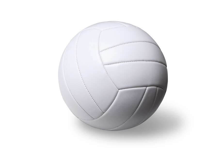 White volleyball ball on white (isolated)  volleyball sports equipment / 3344527