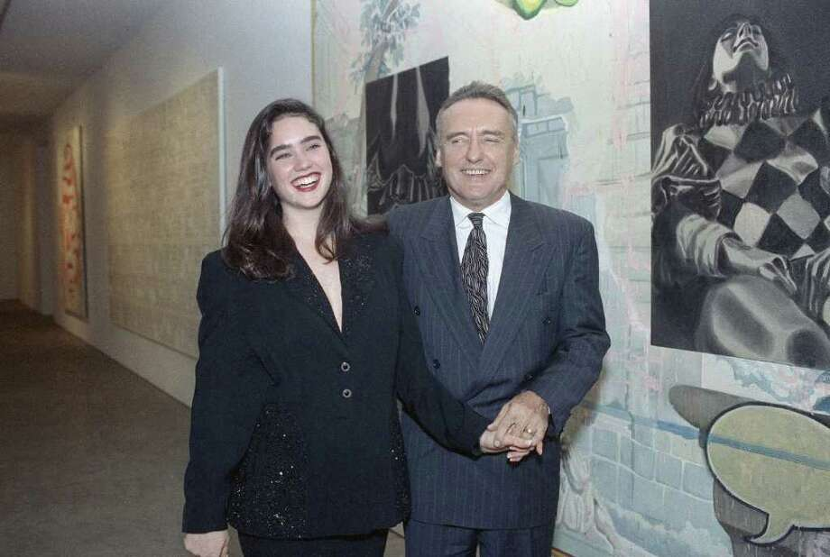 "By the time Jennifer Connelly was 20 (when this photo with Dennis Hopper was taken in 1990), Connelly had starred in several movies, including 1985's ""Phenomena"" (when she was 15) and 1986's ""Labyrinth"" (when she was 16). Photo: Susan Ragan, STF / AP1990"