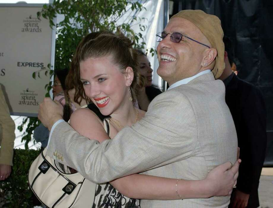 "By the time Scarlett Johansson was 18, when this 2002 photo with Joe Pantoliano was taken, Johansson had been in several films, including ""Home Alone 3"" when she was 15. Photo: CHRIS PIZZELLO, STR / AP2002"