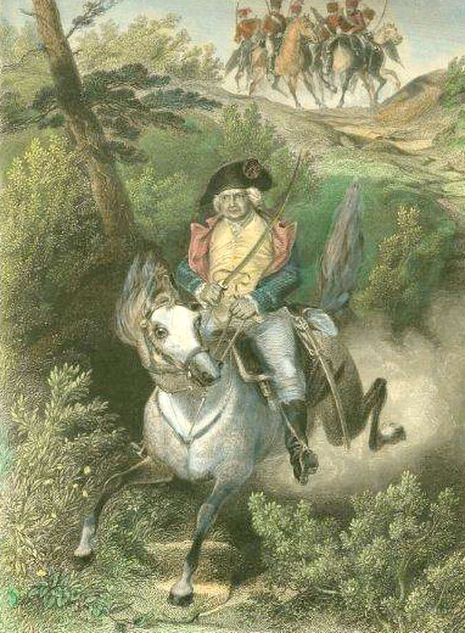 General Israel Putnam is credited with being one of Greenwich's very first first responders, riding to bring reinforcements to save the town from advancing British forces - back in 1779. Photo: Contributed Photo