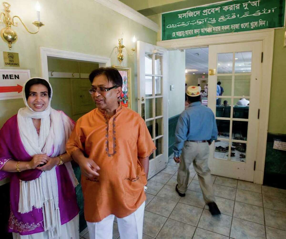 Rafiqul Alam, photographed with his wife, Nasreen, of Danbury, is the founder of Baitul Mukarram Masjid mosque on Main Street in Danbury.