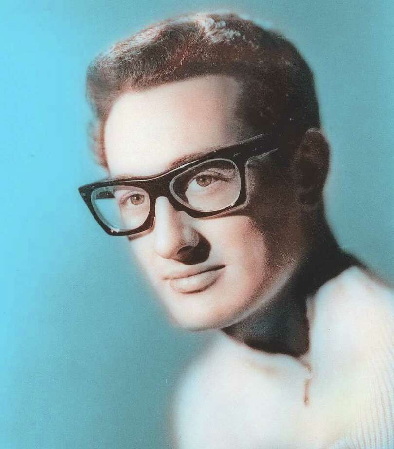 "This is an undated file photo of Buddy Holly who died in 1959. For thousands of '50s rock 'n' roll fans who travel each year to the Surf Ballroom in Clear Lake, Iowa, the music lives on and remains reason for an annual celebration to honor Holly, Ritchie Valens and J.P. ""The Big Bopper"" Richardson who died Feb. 3, 1959, just after performing at the Surf. (AP Photo/File) / AP"