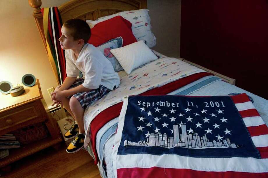 Luca Piacenza in his family's home in Norwalk, Conn., September 6, 2001. Luca will celebrate his 10th birthday Sept. 11. Photo: Keelin Daly / Stamford Advocate