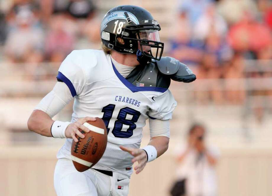 Clear Springs quarterback Zach Cripps has thrown five interceptions in his team's 0-2 start. Photo: Thomas B. Shea / Special To The