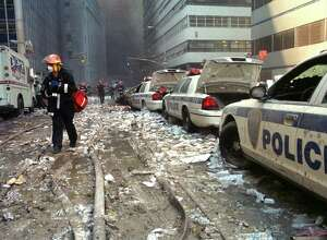 Times Union staff photo by Paul Grondahl -- Aftermath of the attack on the World Trade Center in New York City, NY on September 11, 2001.