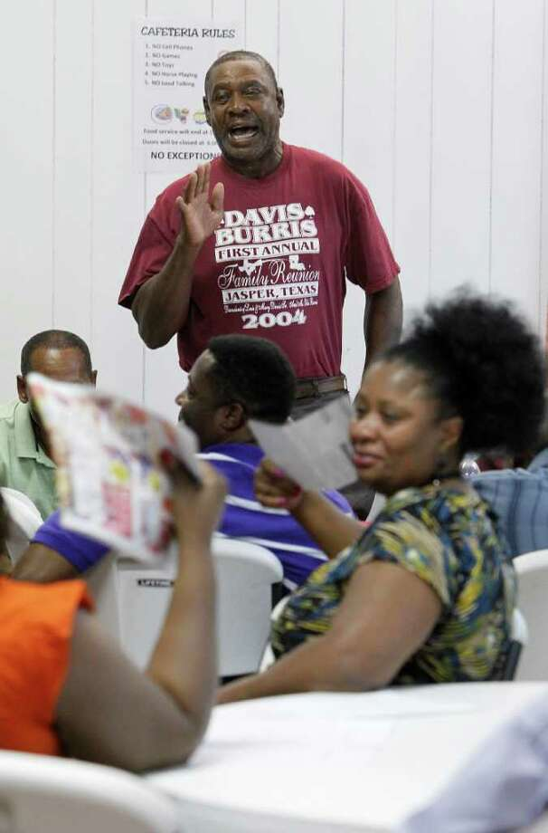 "Jasper city councilman Willie Land speaks during the ""Justice for Jasper"" meeting at New Lighthouse COGIC Ministries on Aug. 30 in Jasper. Photo: Karen Warren, Staff / © 2011 Houston Chronicle"