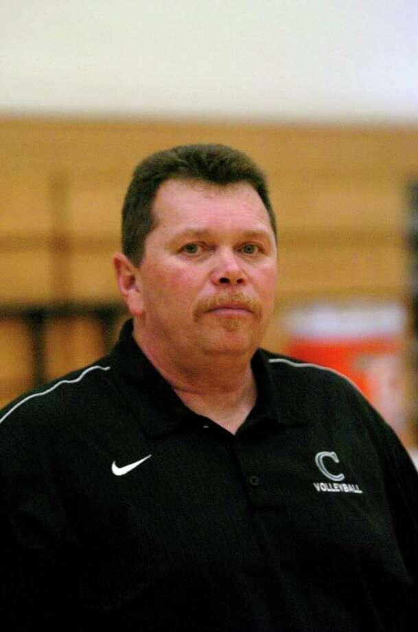John Cooper varsity volleyball coach Jim Richardson Photo: Eddy Matchette, Freelance / freelance