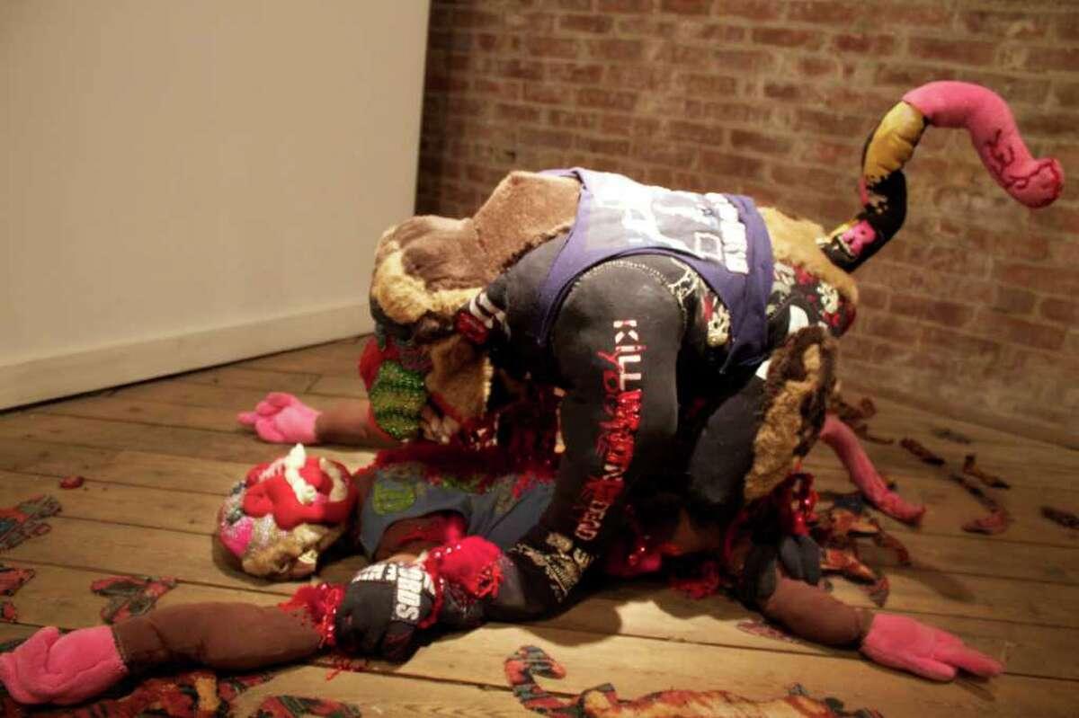 """Dumb Diesel"" by Sierra Furtwangler is on exhibit at Collar Works, 444 River St., 3rd Floor, Troy. (Michael Janairo / Times Union)"