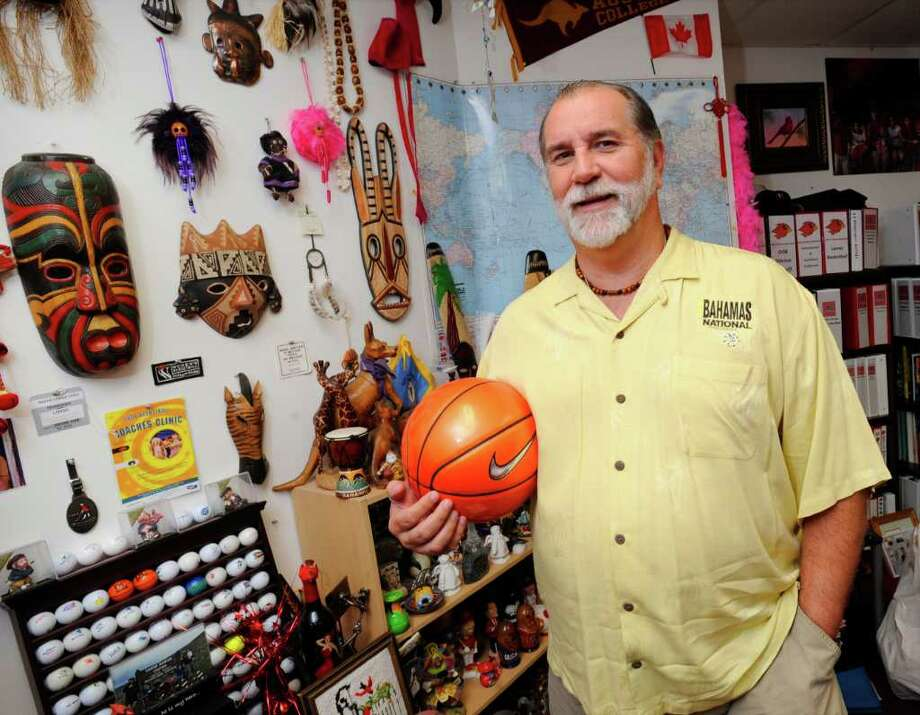 Larry Tidwell, Lamar University women's head basketball coach, is on his way back to the Bahamas to coach the Bahamas national women's basketball team at the CONCENCABA & FIBA Americas Caribbean Championships August 3-7 in Nassau, Bahamas.   Tuesday, July 12, 2011.  Valentino Mauricio/The Enterprise Photo: Valentino Mauricio