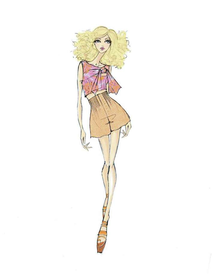 A sketch from Nanette Lepore's Spring 2012 collection she'll present in New York.