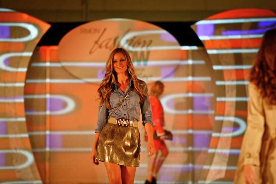 Megan Rainbird models for the Simon Fashion Now runway show at the Galleria. ( Michael Paulsen / Houston Chronicle ) Photo: Michael Paulsen, Staff / Houston Chronicle