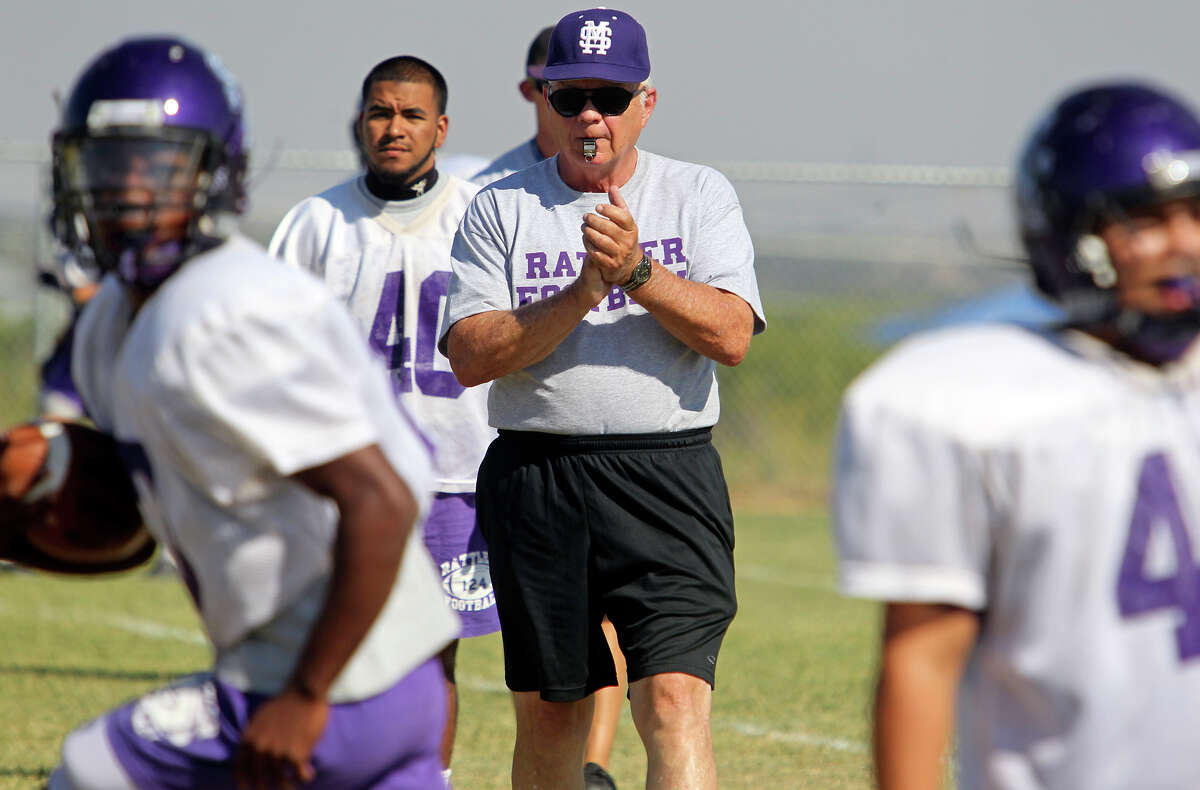 Coach James Chase has helped recharge the San Marcos program, a year removed from a 0-10 season, with new practice routines. TOM REEL/treel@express-news.net
