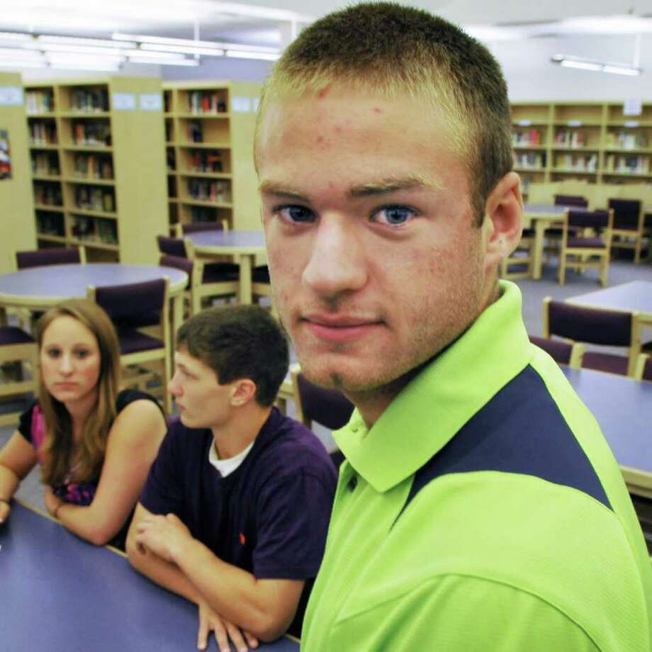 Ballston Spa High School senior Scott Ferron, during a planing meeting Wednesday Sept. 7, 2011, for an event at their school to commemorate the 10th anniversary of 9/11.   (John Carl D'Annibale / Times Union) Photo: John Carl D'Annibale / 00014547A