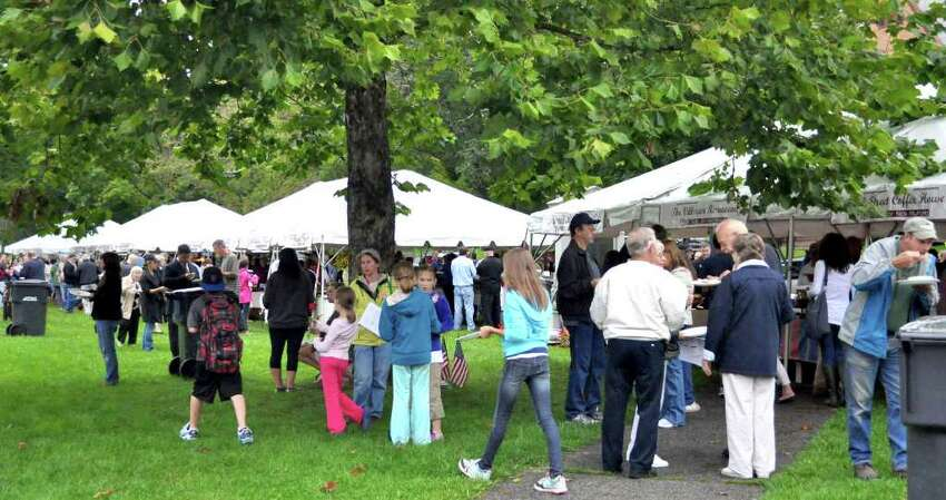 Many hundreds of patrons and a wide assortment of foods to sample kept the Taste of New Milford a happening event early Wednesday evening on the Village Green in New Milford. Sept. 7, 2011