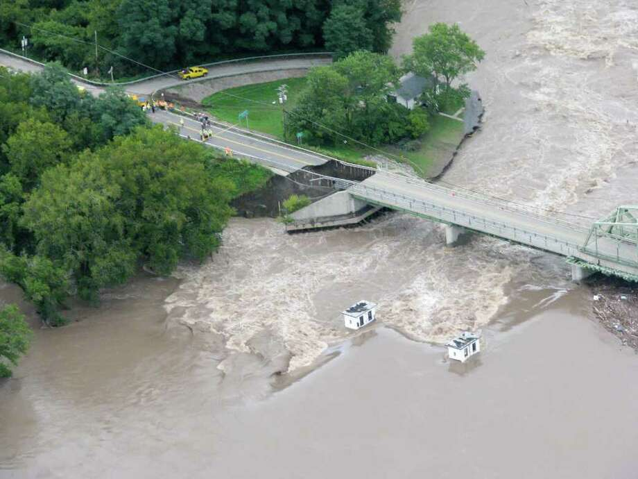 A view of flood-damaged Lock 9 in Rotterdam Junction on Thursday, Sept. 8, 2011.  (Michael Townsend/ Special to the Times Union) Photo: Michael Townsend / Aerial Dimensions