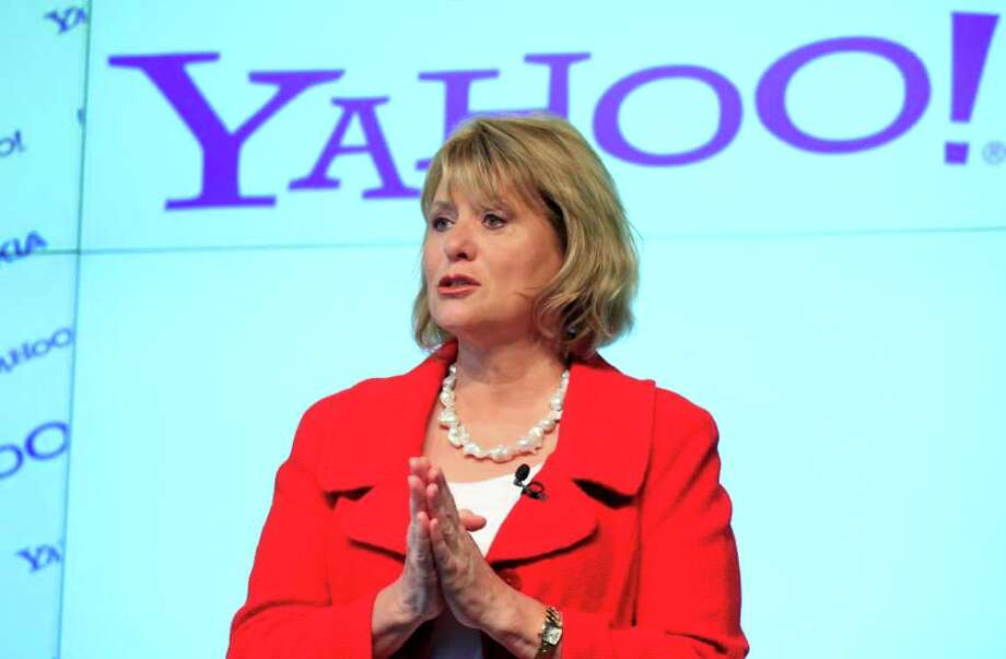 FILE - In this May 24, 2010 photo, Carol Bartz, CEO of Yahoo, attends a news conference in New York.    Bartz's firing as Yahoo Inc.'s CEO isn't going to be enough to placate a loudening chorus of shareholders who believe Chairman Roy Bostock and his fellow board members also should be ousted after years of questionable choices that raised doubts about their competence. (AP Photo/Mark Lennihan) Photo: Mark Lennihan