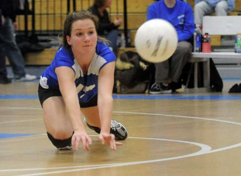 Fairfield Ludlowe's Emily Nelson is one of the few returning varsity starters for the Falcons' girls volleyball team. Photo: File Photo
