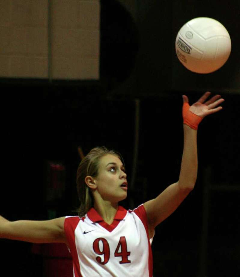 Warde's Kitty Caissy is one of the many returning varsity players for the Mustangs' girls volleyball team. Photo: File Photo