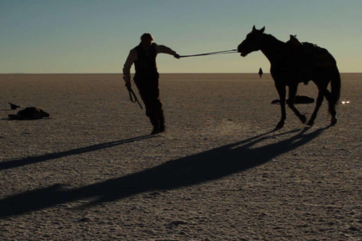 "Sam Shepard as James Blackthorn/Butch Cassidy in ""Blackthorn."""
