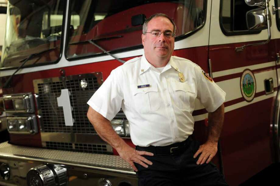 Fairfield Asst. Fire Chief Doug Chavenello was a first responder after 9/11. He spent more than two weeks helping at ground zero following the attacks. Photo: Autumn Driscoll / Connecticut Post
