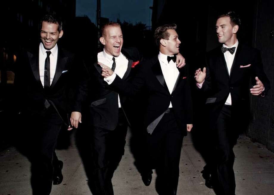 """The Midtown Men, four singers who starred in the Broadway musical """"Jersey Boys,"""" will perform in Westport in  a concert to benefit St. Vinccent's Hospital's emergency and trauma center. Photo: Contributed Photo / Westport News"""