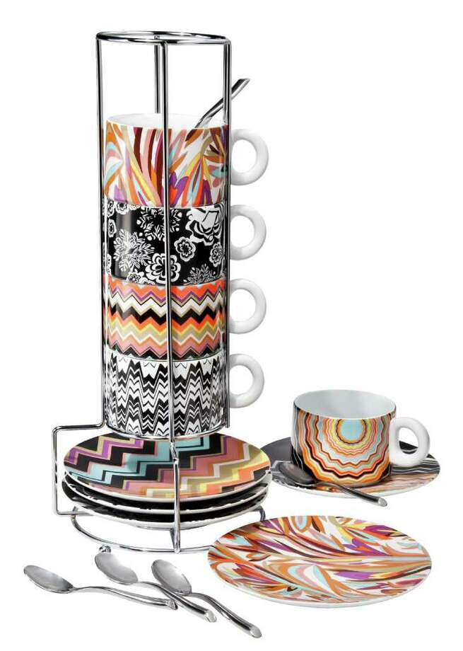 Missoni for Target home five-piece espresso set, $39.99. Photo: Target / 2011 Target Corporation