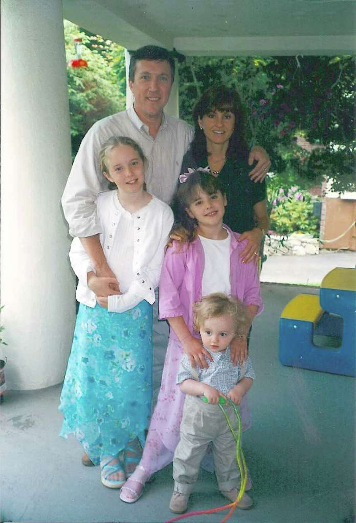 The Lenihan family of Cos Cob, shown here in spring 2001, months before father Joseph was killed in the 9/11 attacks.