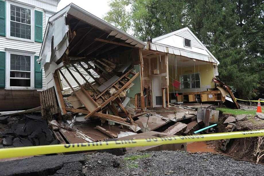A damaged kitchen of a church on Main St. in Prattsville, N.Y. on Sept. 8, 2011. The Schoharie Creek flooded the town after tropical storm Irene.(Lori Van Buren / Times Union) Photo: Lori Van Buren