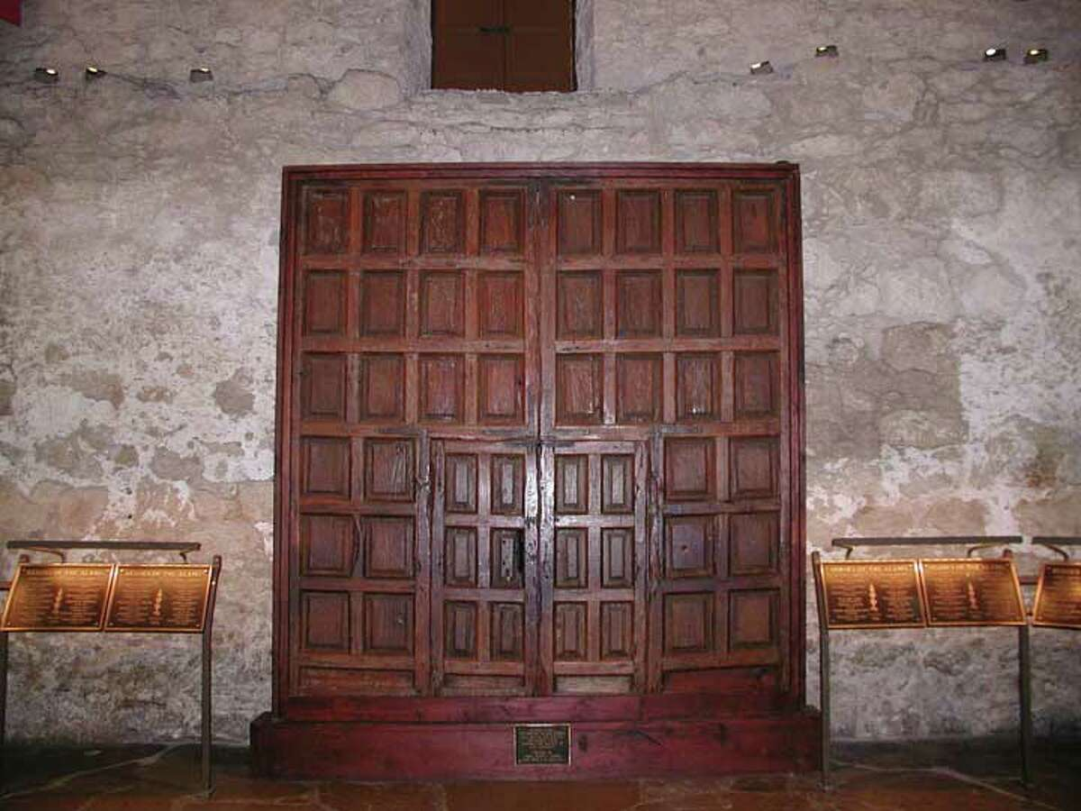 The Veramendi Palace doors are in the Alamo, along the east wall. Express-News file photo