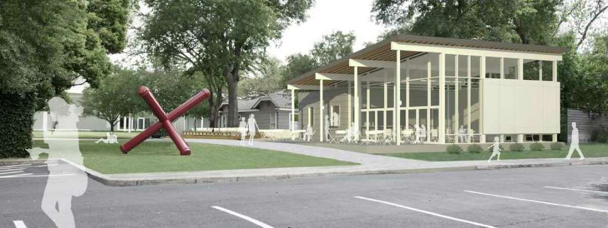 RICE BUILDING WORKSHOP CLASS PROJECT: The Menil Collection's planned cafe was designed by the Rice Building Workshop.