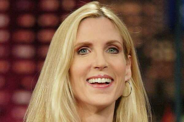 "Ann Coulter during a taping of ""The Tonight Show with Jay Leno,"" in 2006. Coulter was seen shopping at Ralph Lauren at Clinton Crossings in Clinton on Labor Day. (AP Photo/NBC Universal, Paul Drinkwater, FILE)"