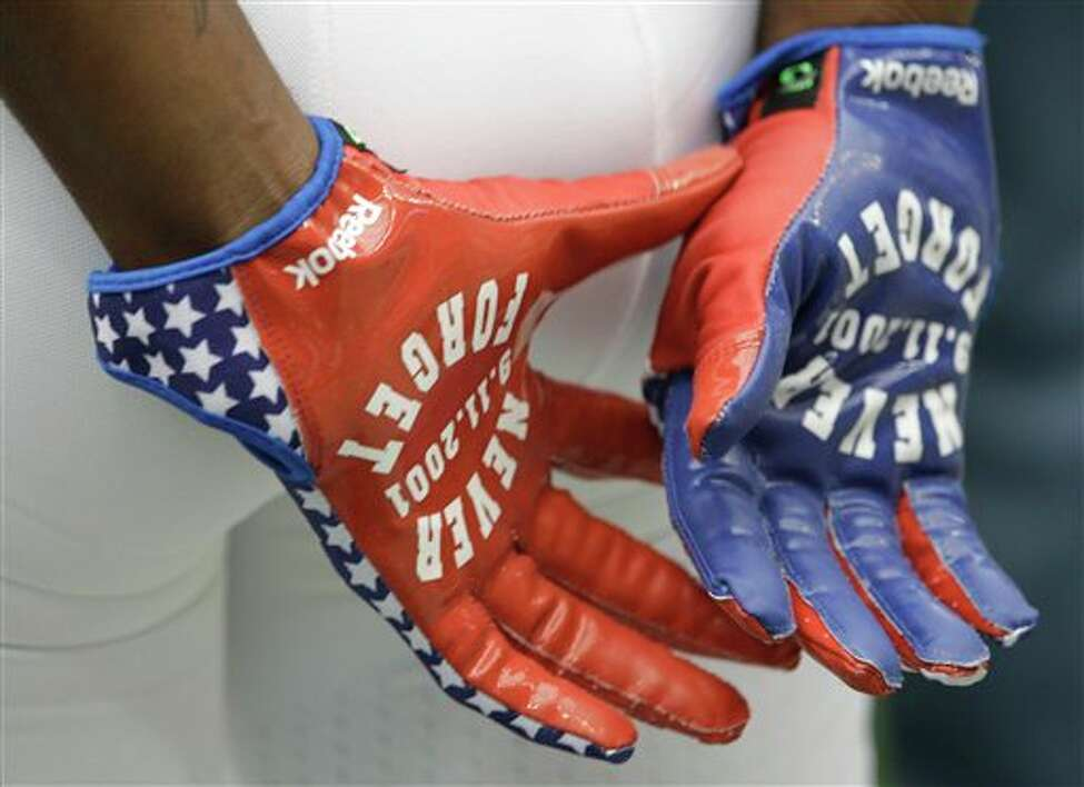 An Indianapolis Colts player before an NFL football game against the Houston Texans Sunday, Sept. 11, 2011, in Houston. (AP Photo/David J. Phillip)