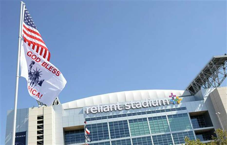 Reliant Stadium, home to the Houston Texans sports a new logo before an NFL football game against th