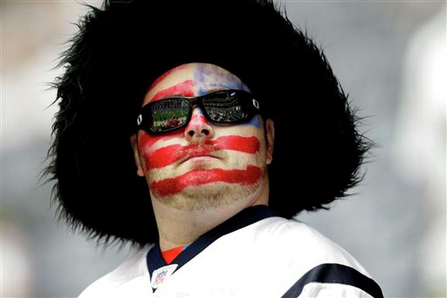 A Houston Texans fan before an NFL football game against the Indianapolis Colts Sunday, Sept. 11, 2011, in Houston. (AP Photo/Eric Gay) Photo: Associated Press
