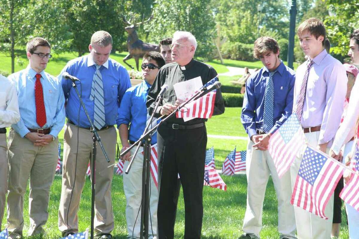 Fairfield University hosts a ceremony for the tenth anniversary of 9/11 and remembers the victims of the attacks.