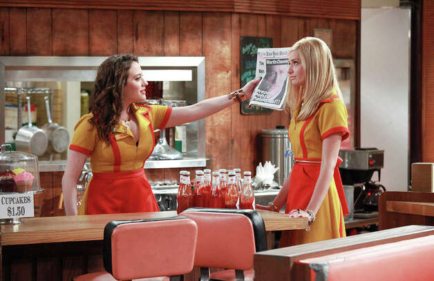 Max (Kat Dennings, left) and Caroline (Beth Behrs) team up to sell cupcakes in this comedy about characters who have to pinch pennies. Photo: CBS / ©2011 CBS BROADCASTING, INC. All Rights Reserved.