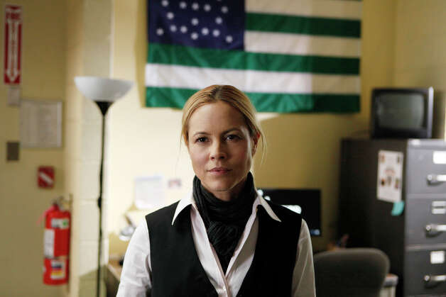 "In NBC's ""Prime Suspect,"" Maria Bello plays a female police detective who doesn't allow her precinct's testosterone-heavy jerks to intimidate her. Photo: NBC"