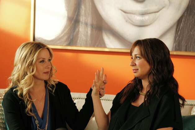"Christina Applegate (left) and Maya Rudolph star in ""Up All Night."" Photo: NBC"