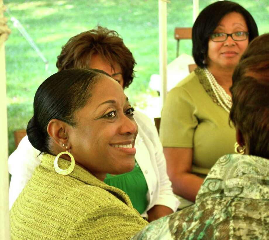 Jane McBride Gates, the new provost and vice president of academic affairs at Western Connecticut State University, was welcomed by a local chapter of The Links, an international organization for women of African descent. Photo: Stacy Davis