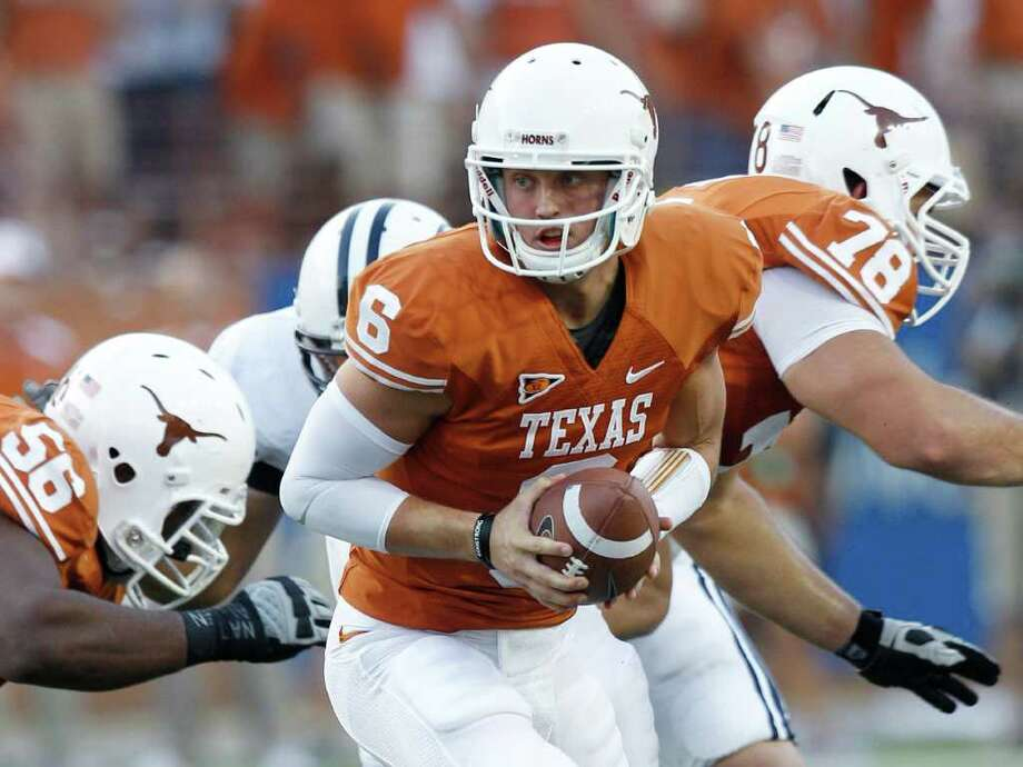 Case McCoy energized the Longhorns' offense in Saturday's 17-16 comeback win over BYU. Photo: Eric Gay/Associated Press