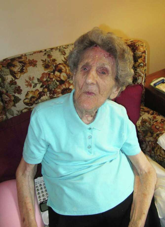 Pictured is Westport resident Laurie Olsen, who celebrated her 109th birthday on Sept. 6. Photo: Kirk Lang / Westport News contributed