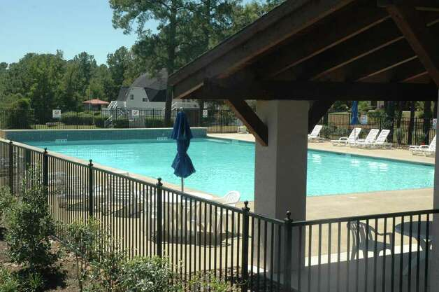 Swimming pool area at Rayburn Country Club. Photo: Jimmy Galvan