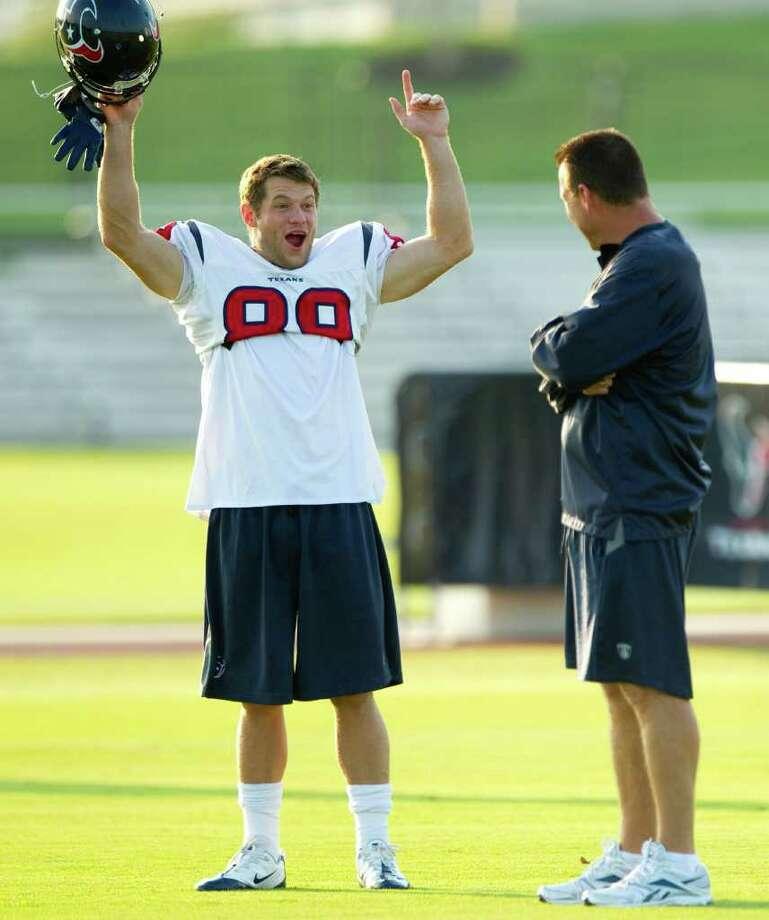 David Anderson will get another chance to impress head coach Gary Kubiak this season. (Brett Coomer/Chronicle) Photo: Brett Coomer / Houston Chronicle