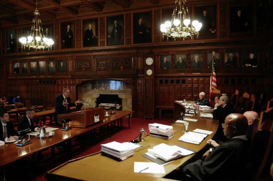 Defense attorney Terence L. Kindlon makes his case to the justices of the New York State Court of Appeals during the appeal of Christopher Porco's murder and attempted murder conviction,  on Tuesday Sept. 13, 2011 in Albany, NY.( Philip Kamrass / Times Union) Photo: Philip Kamrass / 00014607A