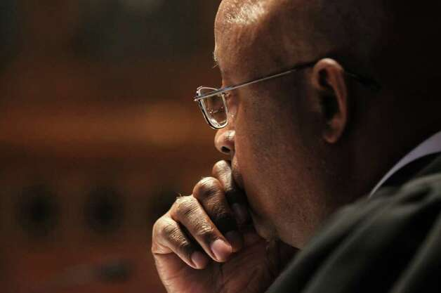 New York State Court of Appeals judge Theodore T. Jones listens during the appeal of Christopher Porco's murder and attempted murder conviction,  on Tuesday Sept. 13, 2011 in Albany, NY. ( Philip Kamrass / Times Union) Photo: Philip Kamrass / 00014607A