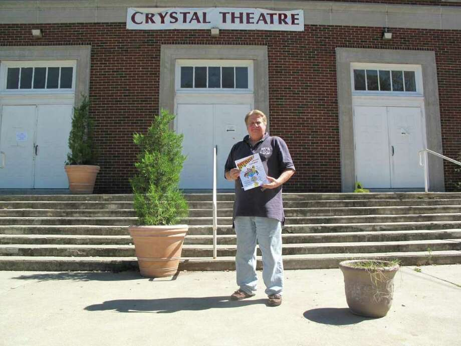 "Playwright Rick Giarniero in front of the Crystal Theatre in Norwalk where his new play ""Boy Wonder?"" will debut Sept. 23. Photo: Paresh Jha"